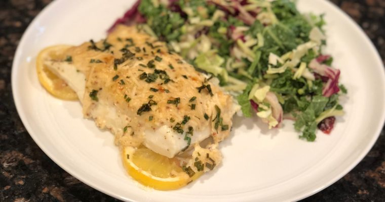 Creamy Lemon-Parmesan Halibut